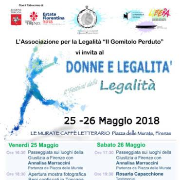 Festival Donne Legalità 2018 Firenze