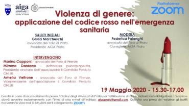Violenza di genere: applicazione del codice rosso nell'emergenza sanitaria
